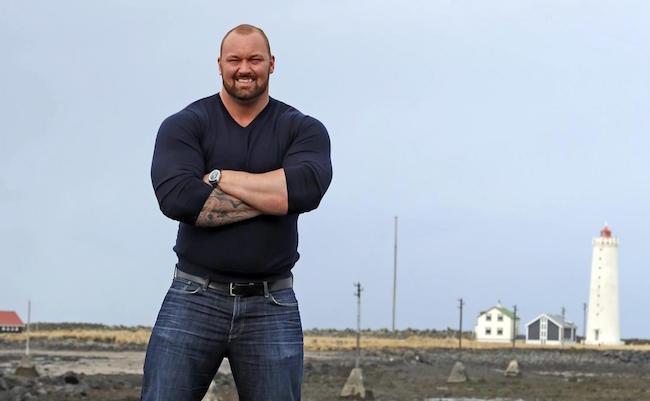 Hafthor Julius Bjornsson looks dapper