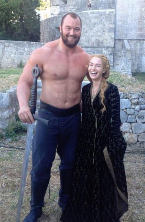 Hafthor Julius Bjornsson with Game of Thrones co-star