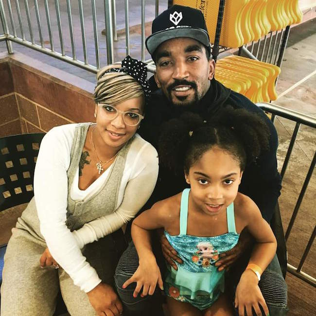 J. R. Smith, his wife Jewel Harris and their daughter Demi