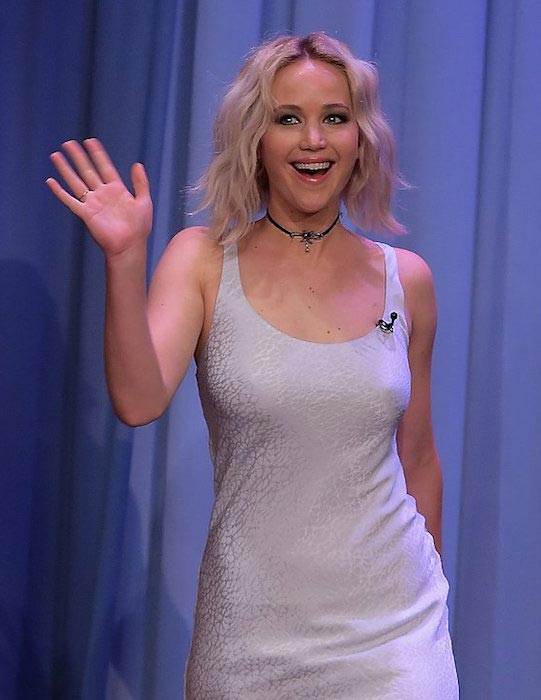 Jennifer Lawrence at Jimmy Fallon Show in May 2016