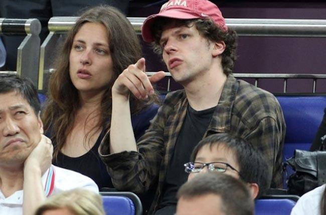 Jesse Eisenberg with Anna Strout