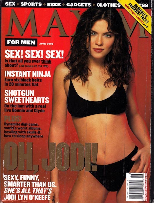 Jodi Lyn O'Keefe for the Maxim Magazine Cover in April 2000