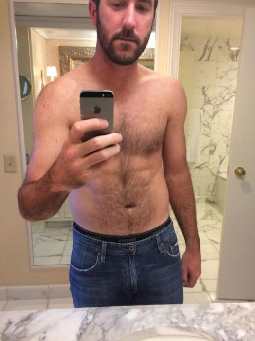 Justin Verlander shirtless body