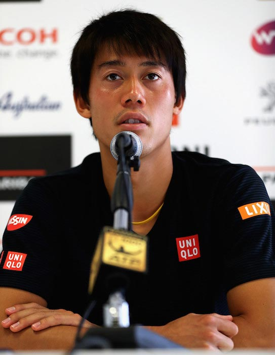 Kei Nishikori during a press conference at Internazionali BNL d'Italia on May 10, 2016 in Rome, Italy