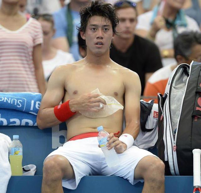 Kei Nishikori shirtless body
