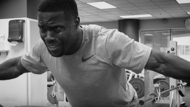 Kevin Hart workout is no joke