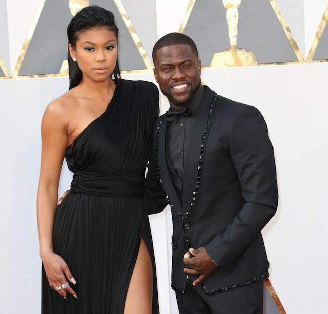 Kevin Hart and Eniko Parrish at the 88th Annual Academy Awards