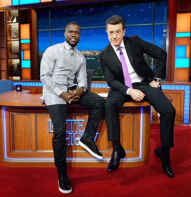 Kevin Hart on a talk show