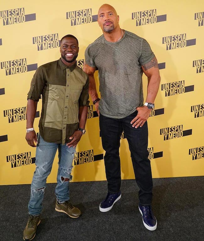 Kevin Hart with Dwayne Johnson