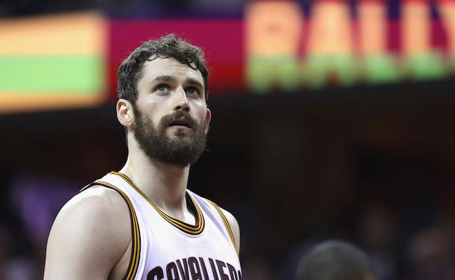 Kevin Love during a game 4 of the 2016 NBA Finals between Cleveland Cavaliers and Golden State Warriors on June 10, 2016