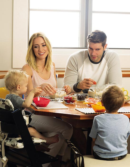 Kristin Cavallari with Jay Cutler and 2 sons