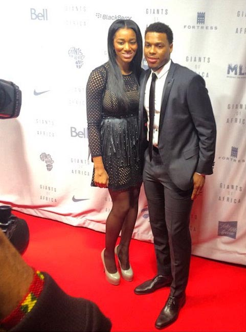 Kyle Lowry and Ayahna Cornish-Lowry