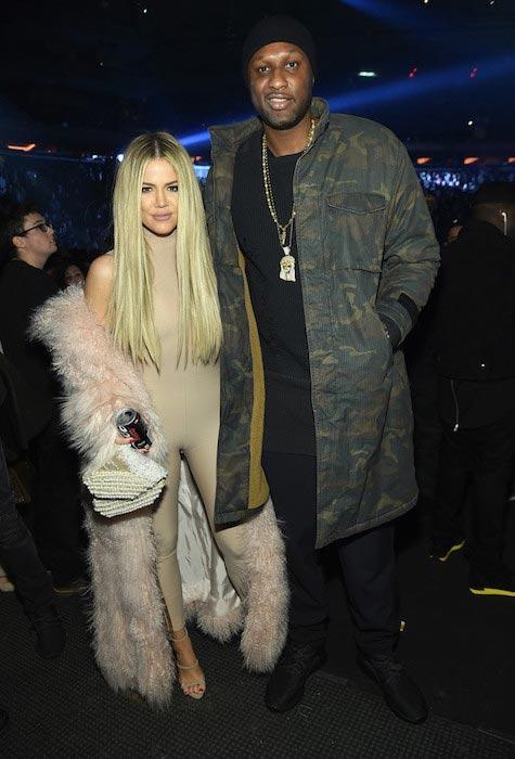 Lamar Odom and Khloe Kardashian On February 11, 2016 in New York