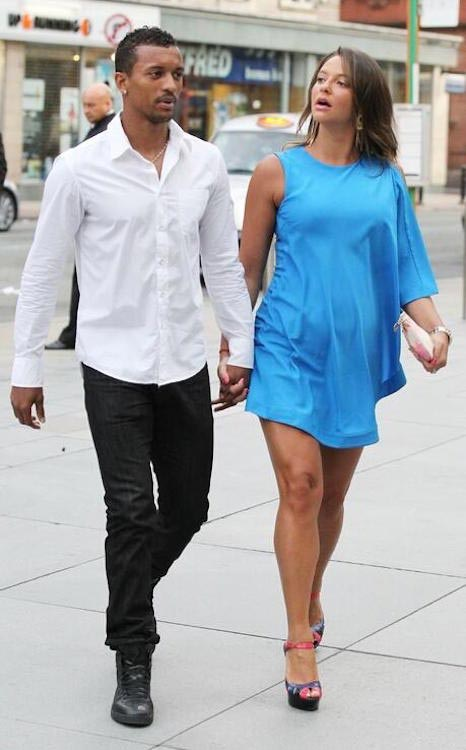 Luis Nani and his girlfriend Daniela Martins