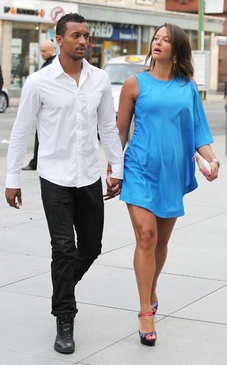 Luis Nani and his girlfriend Daniela Martins
