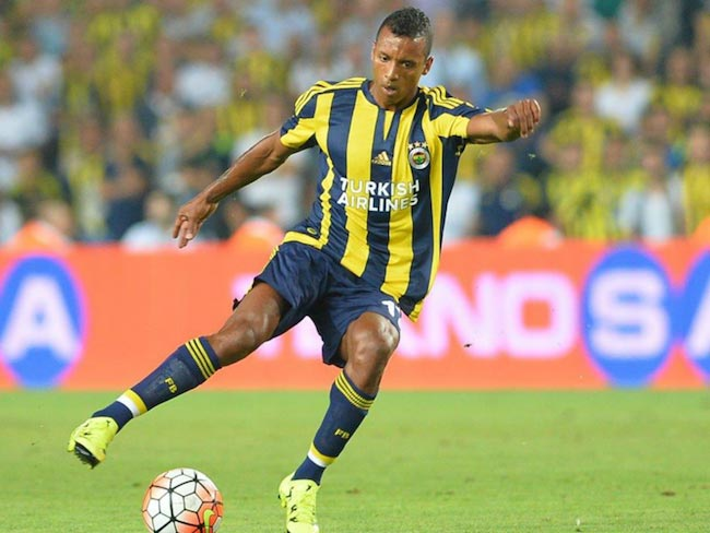 Luis Nani in action during a match of the Turkish League