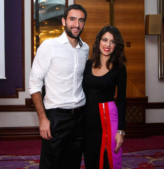 Marin Cilic with Kristina Milkovic