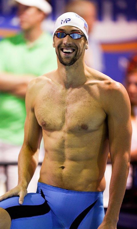Michael Phelps shirtless body
