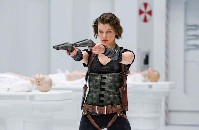 """Milla Jovovich in a still from """"Resident Evil"""""""