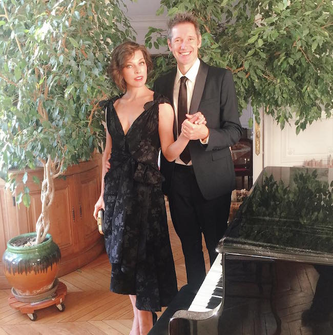 Milla Jovovich and husband