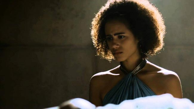 Missandei played by Nathalie Emmanuel