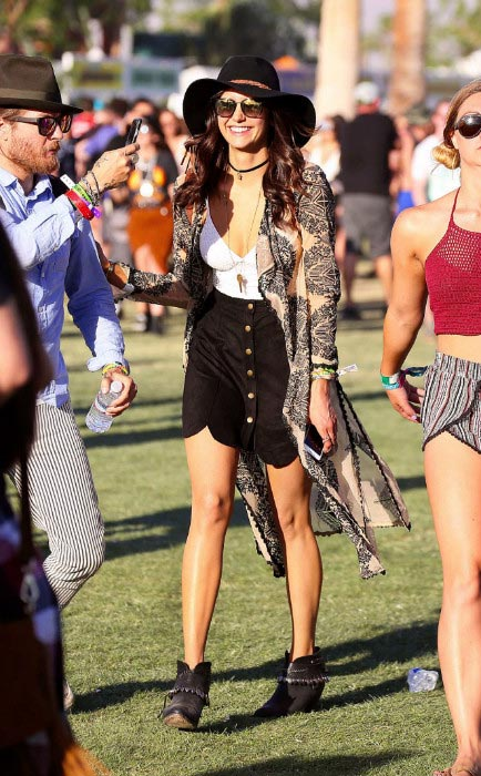 Nina Dobrev at Coachella 2016