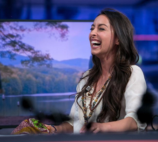 "Oona Chaplin at ""El Hormiguero"" TV Show on May 6, 2015"