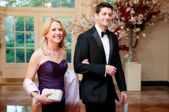 Paul Ryan and his wife