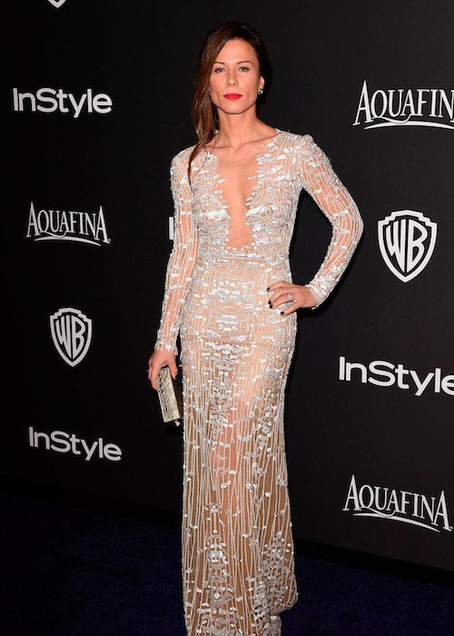 Rhona Mitra at the Golden Globes After Party in 2015