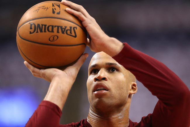 Richard Jefferson prior to a game 4 of the Eastern Conference Finals against Toronto Raptors on May 23, 2016