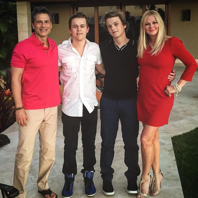 Rob Lowe with family