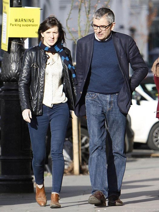 Rowan Atkinson and his girlfriend Louise Ford