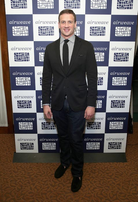 Ryan Lochte at airweave's anniversary and advanced bedding technology in New York on March 10, 2016