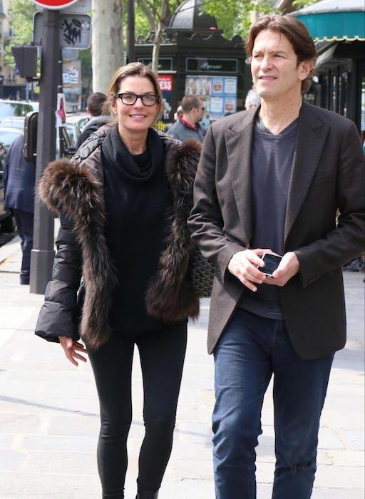Sela Ward with husband Howard Sherman in Paris on May 17, 2013