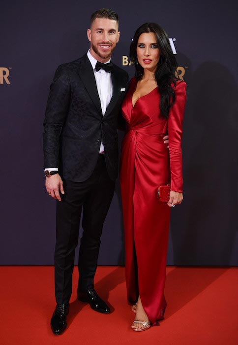 Sergio Ramos and Pilar Rubio at the FIFA Ballon d'Or Gala 2015 on January 11, 2016