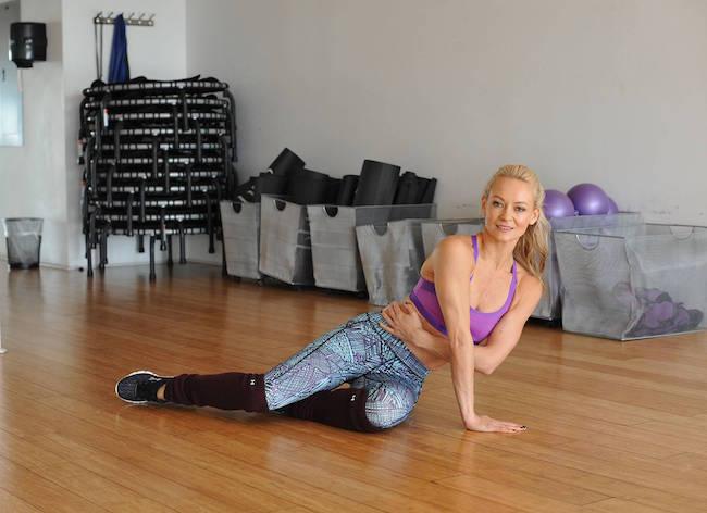 Simone De La Rue workout