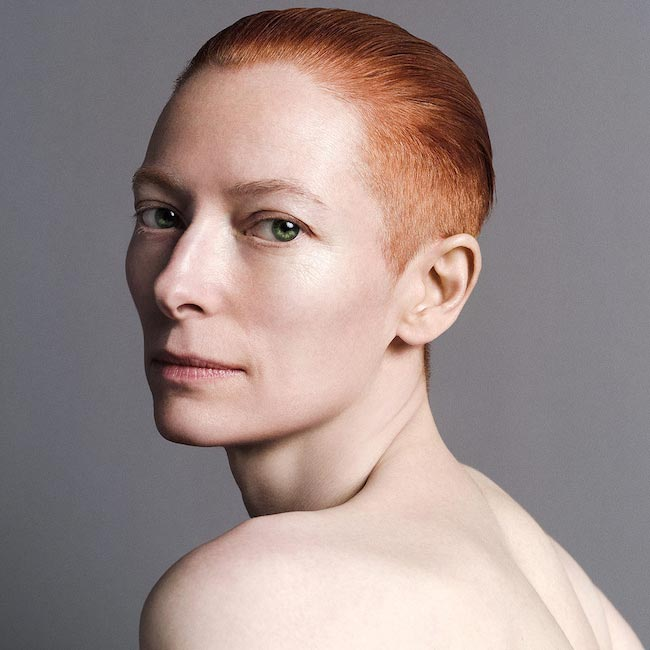 Tilda Swinton in Inez and Vinoodh photoshoot in April 2010