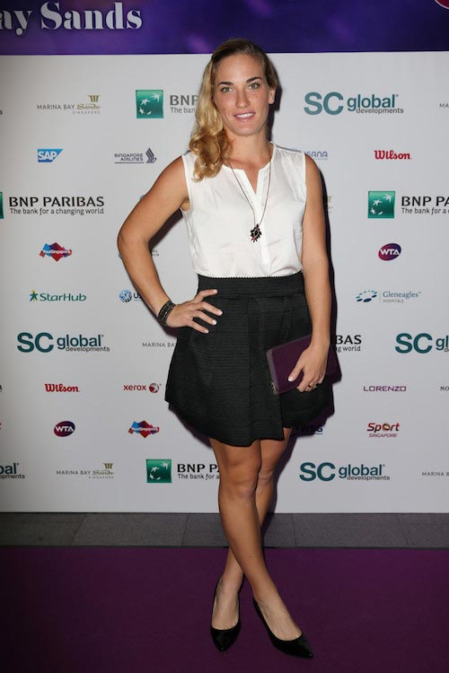 Timea Babos at Singapore Tennis Evening on October 30, 2015