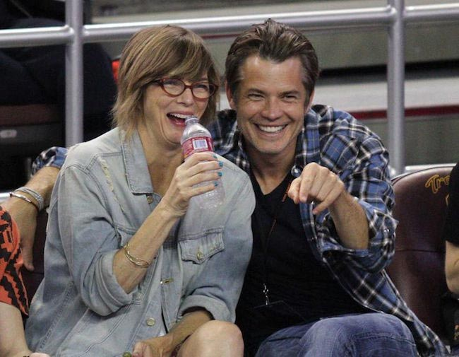 Timothy Olyphant with his wife