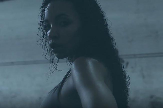 Tinashe breaking a sweat
