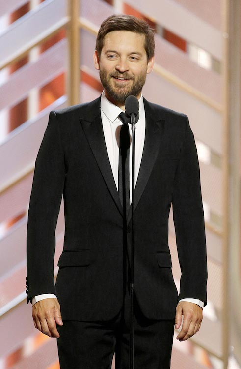 Tobey Maguire Golden Globe Awards 2016