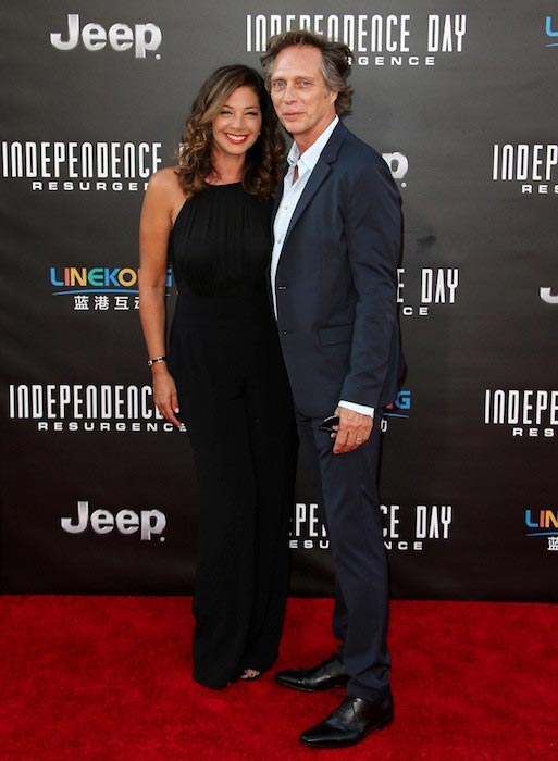 "William Fichtner with wife Kymberly Kalil at the ""Independence Day: Resurgence"" premiere in June 2016"