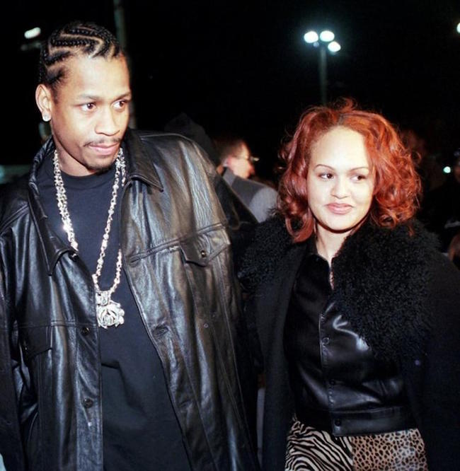 Allen Iverson with ex-wife Tawanna Turner