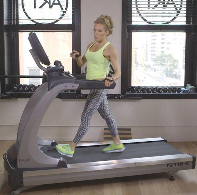 Anna Kaiser treadmill workout