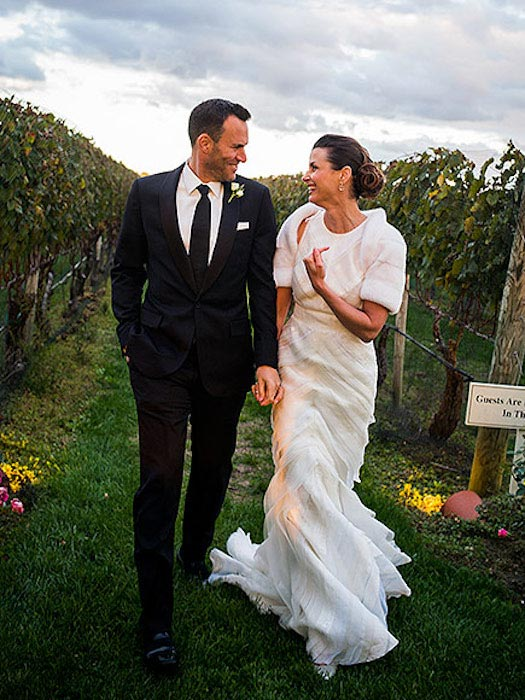 Bridget Moynahan and Andrew Frankel's wedding portrait