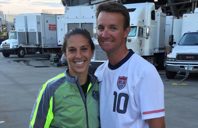Carli Lloyd and Brian Hollins