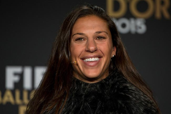 Carli Lloyd during a press conference before the FIFA Ballon d'Or Gala 2015