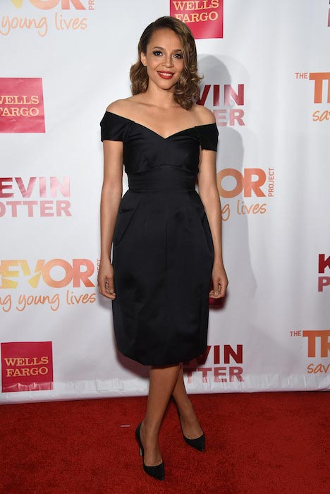 Carmen Ejogo at TrevorLIVE New York in June 2015