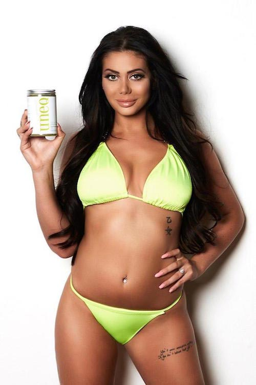 Chloe Ferry promoting uneq diet in a shoot