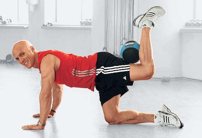 David Kirsch showing a workout move